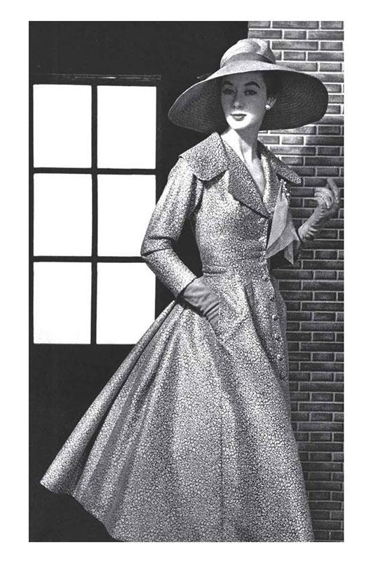 Jacques Fath coatdress 1954